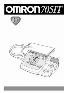 Omron Healthcare Blood Pressure Monitor 705it User Guide