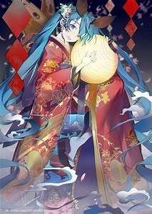 Miku, In, A, Kimono, 1080p, 2k, 4k, 5k, Hd, Wallpapers, Free, Download