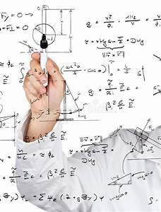 Physics Diagrams And Formulas Stock Photo