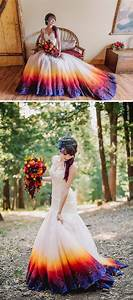 dip dye wedding dress will make any bride the most With dip dye wedding dress