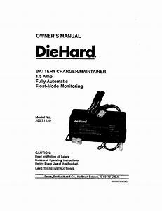 Sears Diehard 200 7122 User Manual