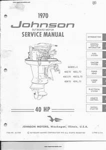 Johnson 40 Hp Outboard Motor Service Manual