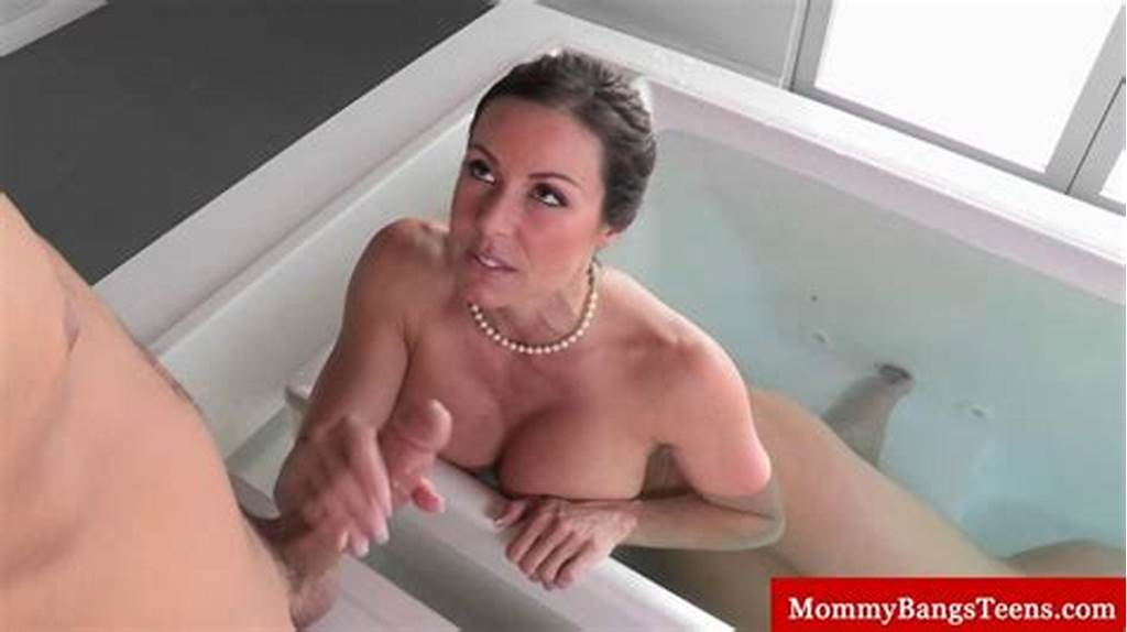 #Busty #Milf #Caught #In #The #Bath #Sucks #Cock #On #Gotporn