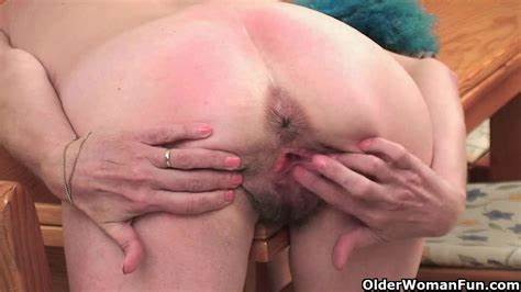 Old Red Haired Fucked Clit