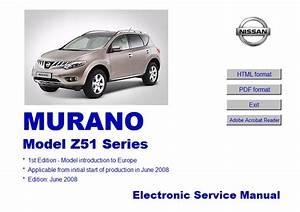 Nissan Murano Model Z51 Series Service Manual