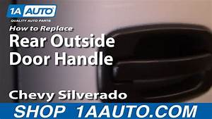 How To Install Replace Broken Rear Outside Door Handle
