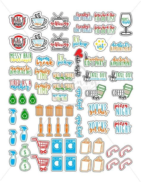 Download our designs in ai, jpg and svg. Free Mom Planner Stickers - 33 Different Designs - Free ...