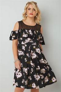 Light Purple Maxi Dress With Sleeves Black Pink Floral Frill Cold Shoulder Dress With