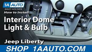 05 Jeep Liberty Light How To Install Replace Interior Dome Light And Bulb 2002
