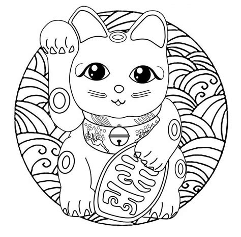 Cute Cat Coloring Page For Adults Also see the category