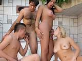 Bisexual interracial foursome share