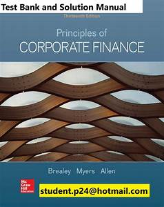 Principles Of Corporate Finance 13th  U00a9 2020 Brealey Test