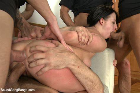 College Gangbang With Four