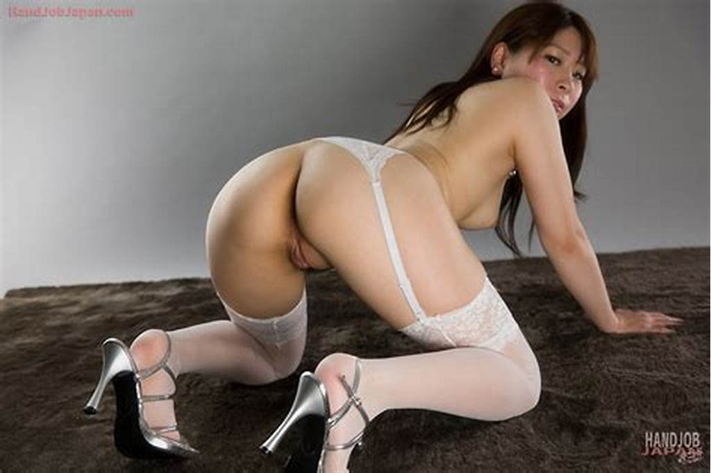#Sakurai #Ruru #Wearing #White #Stockings #And #Stroking #Camerman