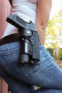 Fobus Tactical Holster With Light Fobus Rbt Holster Although A Glock Is Pictured The