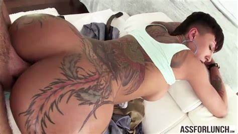 Large Tattooed Korean Jandi Lin Ass Gape