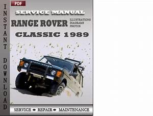 Range Rover Classic 1989 Factory Service Repair Manual