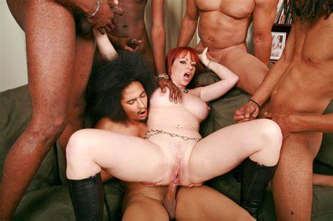 Red Haired Milf In A Dp Four