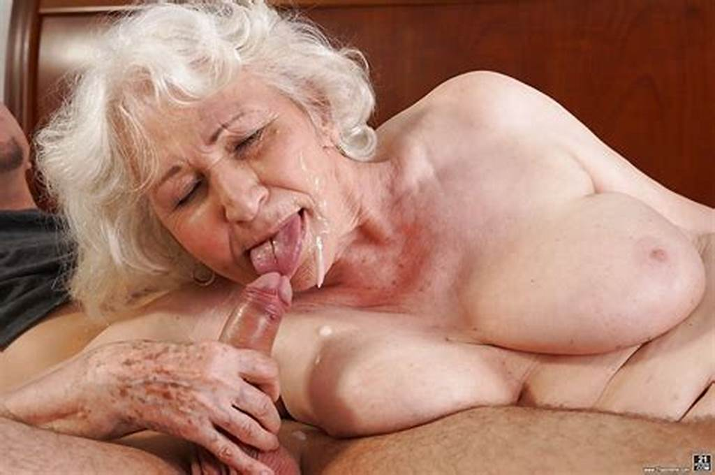 #Grey #Haired #Granny #Norma #Sucking #Off #Large #Cock #To #Cumshot