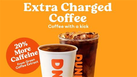 Iced signature latte delicious espresso dunkin. Dunkin' brews up coffee with 20% more caffeine