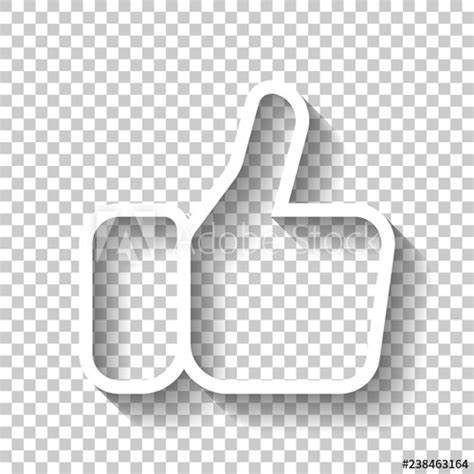Icons are in png black and white versions and in eps vector format so they can be resized. Hand with thumb up, like. Linear outline icon. White icon ...