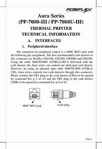 Posiflex Business Machines Printer Aura Series Thermal