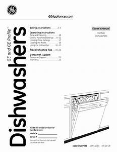 Ge Gld2800t05ww User Manual Dishwasher Manuals And Guides