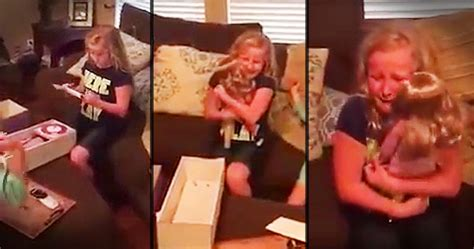 Aizkustinošs video: maza meitenīte ar kājas protēzi saņem ...
