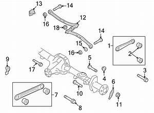 Lincoln Town Car Nut  Arm  Control  Lock  Air Spring  Coil