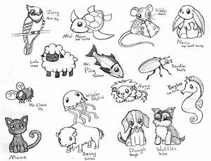 cute baby animal drawing pictures | Cute Chibi Animals 3 ...