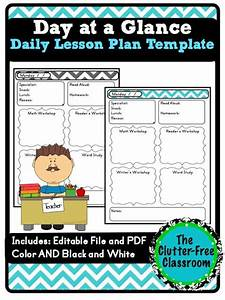 year at a glance template for teachers - day at a glance daily lesson planning lesson plan
