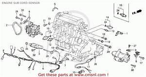 Honda Civic 1987  H  3dr Dx 1500  Ka Kl  Engine Sub Cord