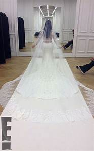 photos kim kardashian39s wedding dress and ceremony with With kim wedding dress