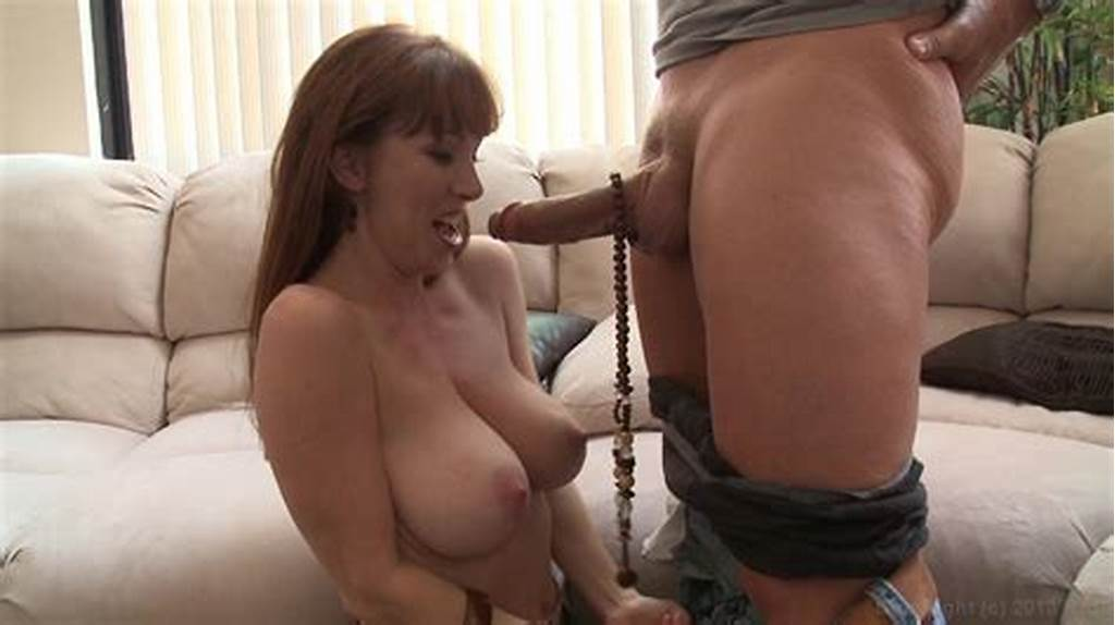 #Redhead #With #Big #Tits #Gets #To #Her #Knees #For #Hard #Dick