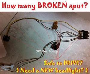 Left Or Right Headlight Wire Harness Connector Kit For