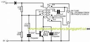 8w Fluorescent Lamp Inverter Based Ztx652 Circuit Diagram