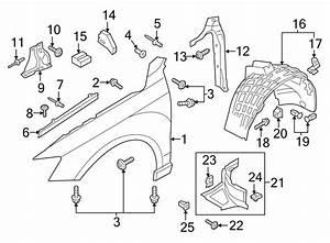 2017 Audi Q3 Fender Closing Plate  Rear   Right
