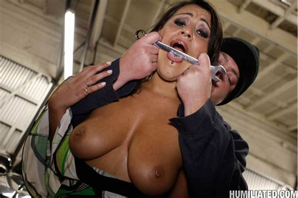 #Helpless #Brunette #Charley #Chase #Gets #Her #Cunt #Abused #With