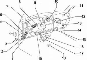 Toyota Tacoma  1998 - 2000  - Fuse Box Diagram