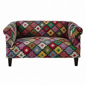 canape 2 3 places en tressage kilim multicolore arlequin With tapis kilim avec maison du monde canapé convertible
