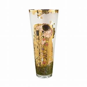 Grand Vase En Verre : grand vase en verre d coratif le baiser de klimt ~ Teatrodelosmanantiales.com Idées de Décoration
