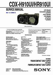 Sony Cdx-h910ui  Cdx-hr910ui Service Manual