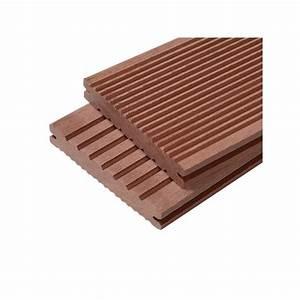 Bois Composite Pour Terrasse : lame terrasse bois composite plein maxima l 360 cm l 14 ~ Edinachiropracticcenter.com Idées de Décoration