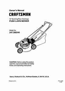Craftsman Lawn Mower 247 388240 User Guide