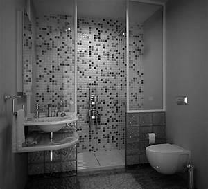 30 idees incroyables de salle de bain gris et blanc With mosaique grise salle de bain