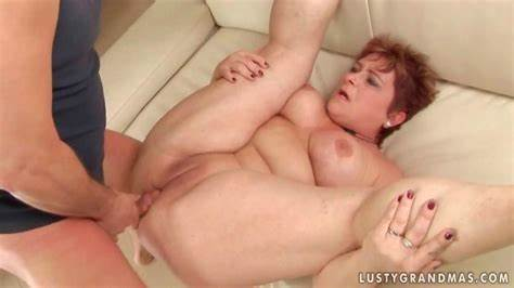 Wet Grandmother Drill Penis Up Her Assfuck