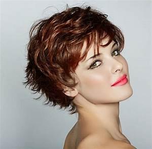 Coupe De Cheveux Bouclés Femme : coupe de cheveux court pour cheveux boucl s femme ~ Nature-et-papiers.com Idées de Décoration