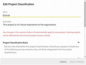 Project Classification  U00b7 Sd Elements User Guide