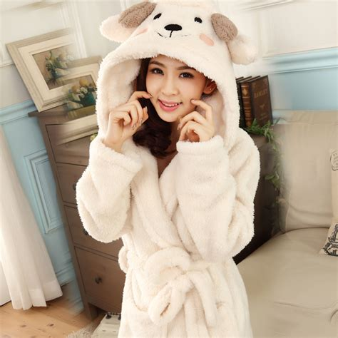 robe de chambre chaude femme bath robe hooded robes for dressing gown warm