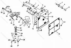 Polaris Atv 1996 Oem Parts Diagram For Cooling System
